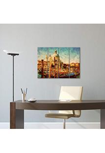 Placa Painel Decorativa Em Mdf Foto Barco Europa Kit 4 Placas
