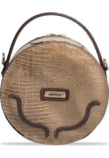 Bolsa Artlux Estruturada Amêndoa