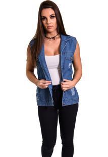 Colete Aero Jeans Azul