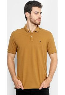 Camisa Polo Foxton Piquet Friso Masculina - Masculino-Caramelo