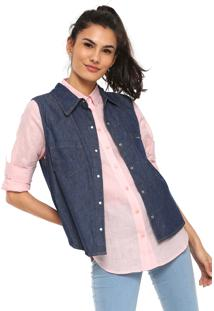 Camisa Jeans Lunender Mullet Azul