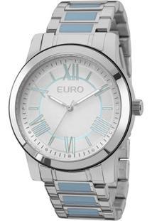 Relógio Euro Coleção Esmaltados Eu2035Yeh/5K Feminino - Feminino-Prata