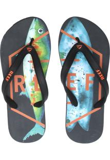 Chinelo Reef Switchfoot Fusion Preto