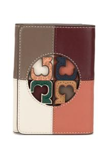 Tory Burch Carteira Miller Color Block - Branco
