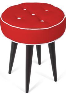 Puff Decorativo Para Sala, Quarto Retro Atz 138 Vermelho