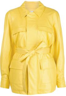 Apparis Faux-Leather Trench Coat - Amarelo