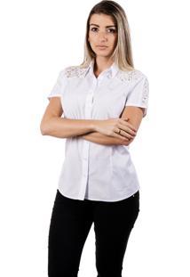Camisa Pimenta Rosada Camélia Top Branca