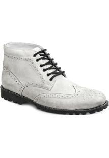 Bota Dress Boot Masculina Polo State - Masculino-Branco