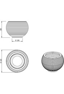 Vaso Para Plantas Redondo Em Polietileno 42 Esfera Lattice 33Cmx31Cm Japi Terracota