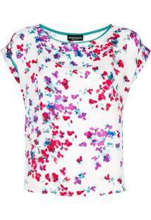 Emporio Armani Blusa Floral - Branco