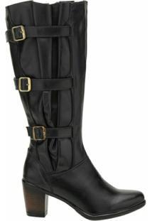 Bota Atron Shoes Fashion 9062 Pto - Feminino