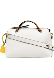 Fendi Bolsa By The Way Boston Média - Branco