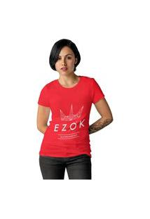 Camiseta Feminina Ezok Urban Vermelho