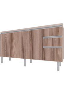 Gabinete Para Cozinha 150Cm Mdf Potira Nude Com Tamarindo 144X87X49,5Cm - Cozimax - Cozimax