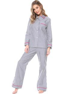 Pijama La Rudge Malibu Branco/Azul