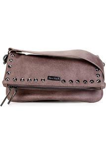 Bolsa Shoestock Tiracolo Spikes Feminina - Feminino-Cinza