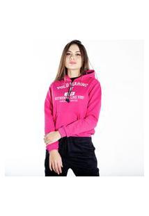 Blusa De Frio Moletom Feminino Polo Marine Rosa