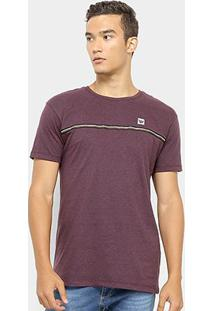 Camiseta Hang Loose Galão Masculina - Masculino-Vinho