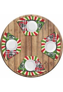 Jogo Americano Love Decor Para Mesa Redonda Wevans Restaurante Italiano Kit Com 4 Pçs