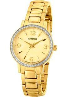 Relógio Citizen Analógico Tz28379G Feminino - Feminino-Dourado