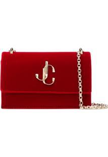 Jimmy Choo Bolsa Tiracolo Com Logo - Vermelho