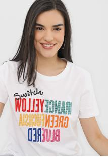 Camiseta Desigual Colors Branca