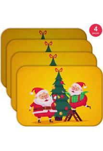 Jogo Americano Love Decor Wevans Cute Noel Yellow Kit Com 4 Pçs