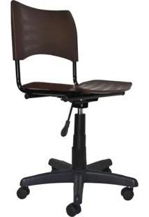 Cadeira Giratória Iso Plástica Marrom
