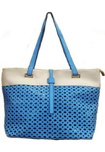 Bolsa Aphrodite By Elizabeth Recorte Vazado Azul