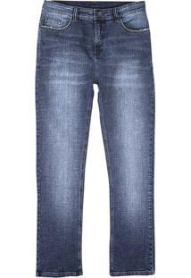 Calça Jeans Masculina Hering Slim Com Bolsos