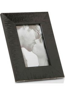 Porta Retrato Em Madeira Hamptons 15X10Cm Preto