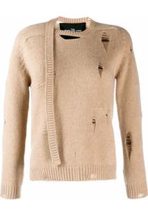 Marc Jacobs Suéter Com Efeito Desgastado E Rasgado - Neutro