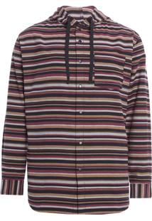 Camisa Masculina Listrado E - Fabrics - Preto