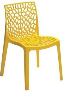 Cadeira Gruvyer Em Polipropileno Highgloop Mobitaly - Amarela