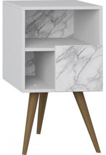 Criado Mudo 1 Porta 1008 Retro Branco/Carrara - Bentec