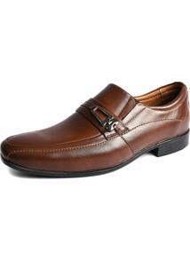 Sapato Social Shoes Grand Couro Roma Tabaco
