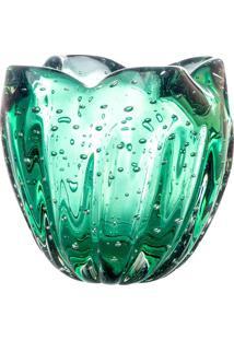 Cachepot Charming - Verde - 14Xã˜14Cm - Cristais Cristais Tavares