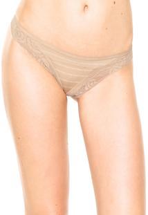 Calcinha Calvin Klein Underwear Mono Bege