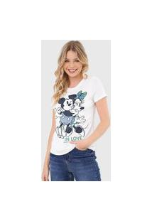 Camiseta Cativa Disney Mickey & Minnie In Love Branca