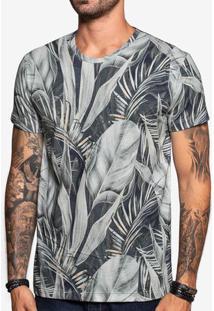 Camiseta Blue Foliage 103845