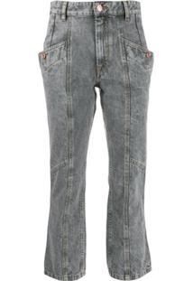 Isabel Marant Étoile Calça Jeans Notty - Cinza