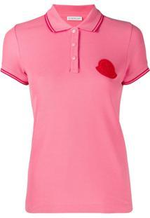 Moncler Camisa Polo Com Logo - Rosa