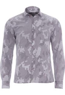 Camisa Masculina Camuflada - Cinza