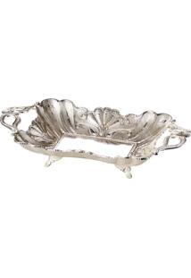 Bandeja Silver Plated Pavão - Lyor Classic Prata
