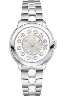 Fendi Relógio Com Topázio - Metálico