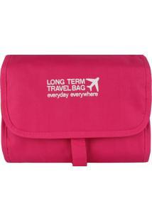 Necessaire Organizadora Travel Bag Stradda (Pink, Único)