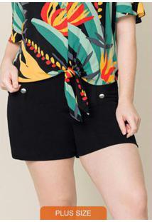 Shorts Tecido Preto