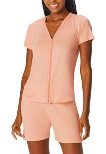 Pijama Feminino Curto Com Abertura Malwee 10000856