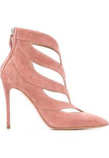 Casadei Sapato Com Recorte Vazado E Salto 110Mm - Rosa