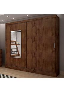 Guarda-Roupa Casal Ônis 2 Portas C/ Espelho – Novo Horizonte - Canela